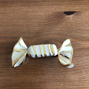 Whimsical St. John Wrapped Candy Brooch